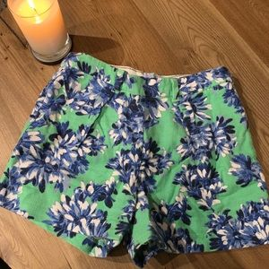 J.Crew Floral High Waisted Shorts